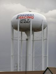 Old US 136: Speedway water tower.