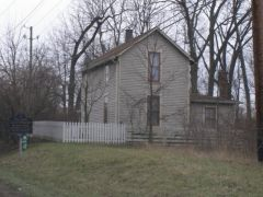 Old US 421: Old Michigan Road Toll House.
