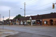 Old US 40: Storefronts in Historic Irvington.