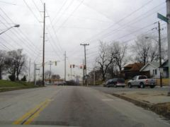 Old US 421: Intersection approaching downtown from the south