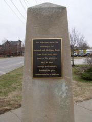 Old US 40/52/421: Mile post signifying the crossing of the N