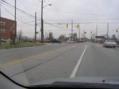 Old US 36/52/136/421: Approaching the intersection where 136