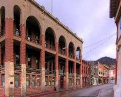 Post office and Old Spanish Trail thru Bisbee, AZ