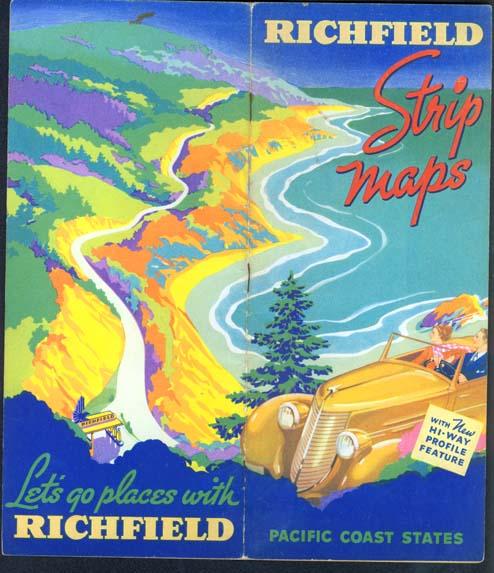 Richfield Strip Maps and Grade Guide Ca. 1937-38