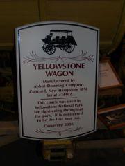 Sign Describing Yellowstone Carriage