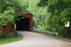 Old US 36 covered bridge from other side