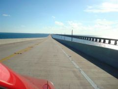 Seven Mile Bridge - both alignments