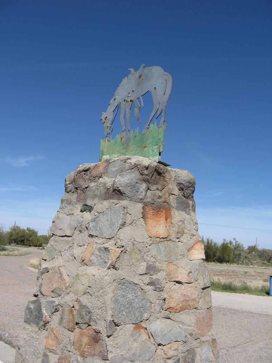 Tom Mix memorial, old US80/89, near Florence AZ