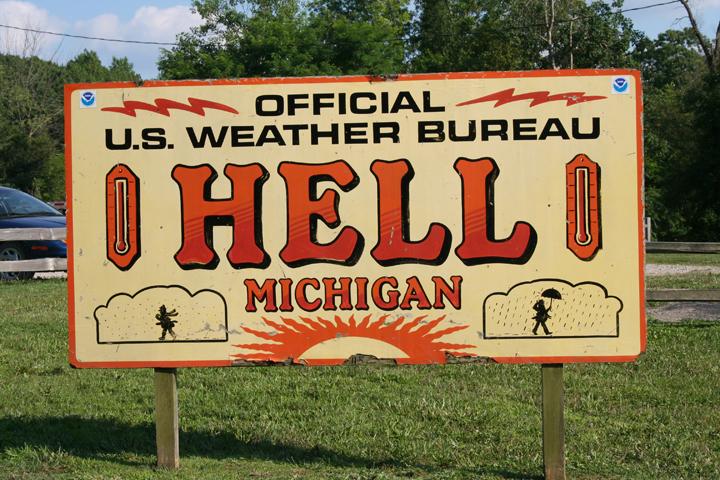 Hell, Michigan Weather Bureau