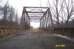 Abandoned U.S. 50 highway bridge near Olney, IL