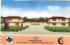 National Motel - 1/4 mile west of Washington, PA