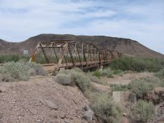 Gillespie Dam bridge, 1927, between Buckeye and Gila Bend AZ