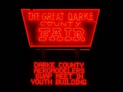 The great neon sign outside the Great Darke County Fair