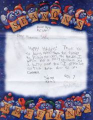 Letters that accompanied the gift bags for each soldier