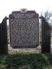 Locomotive 2713 Historical Sign- Stevens Point, WI