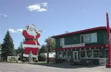 World's tallest Santa and his shop in Christmas, MI