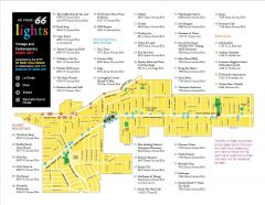 2011 Tour Map of Neon Signs in West Hollywood, CA