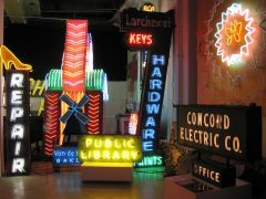 Vintage Signs in Museum of Neon Art (MONA)