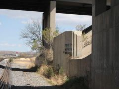 old 80 bridge abutment