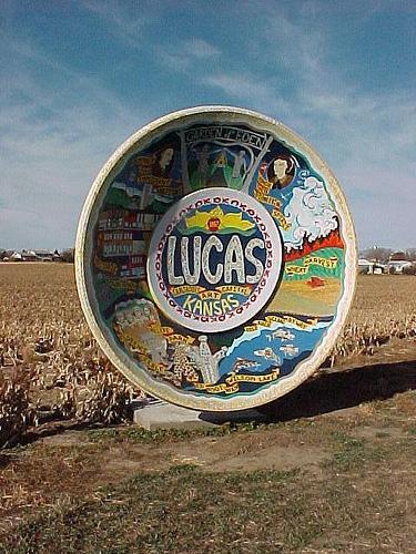 City landmark for Lucas, KS