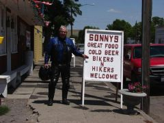 David at Sonny's. Fueling up for the rest of the ride.