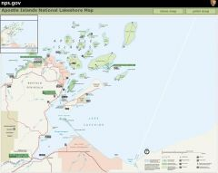 Apostle Islands National Lakeshore Map NPS