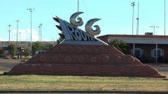 Route 66 Sign in Tucumcari, NM.