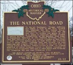 Historic Marker Along National Road