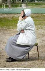 Amish Woman on Cell phone