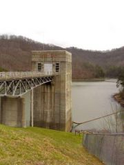 Dewey Dam control structure, south of Paintsville, Kentucky