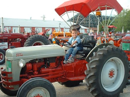 Child On A tractor