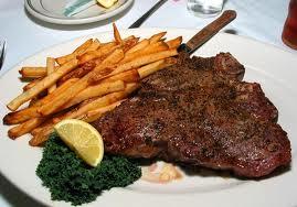 Steak fries dinner
