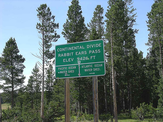 Continental Divide Pass Sign