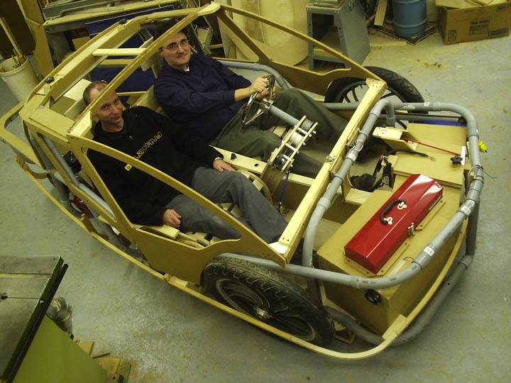 interior stripped W passengers