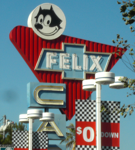 Felix Chevrolet Sign, Los Angeles, CA