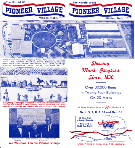 Harold Warp's Pioneer Village Brochure