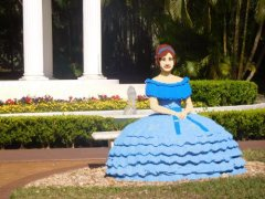 Lego Belle at Cypress Gardens, Florida