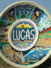 Lucas KS Town Sign