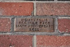 Golden Brick Celebrating the Speedway Centennial