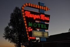 Munger Moss Sign At Dusk
