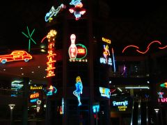 neon museum At dark