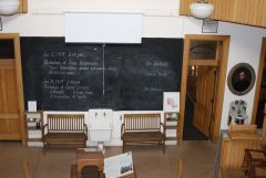 Blackboard in Pathology lecture hall