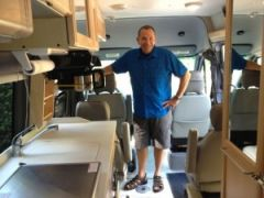Inside Mike's RV