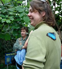 Woman with Morpho On Back