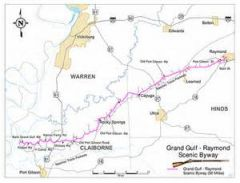 Grand Gulf-Raymond Scenic Byway Map