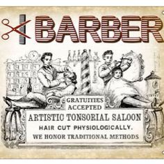 Vintage Barbershop Ad