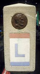 Lincoln Highway marker By Matthew Bisanz