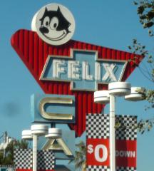 Felix Chevrolet Sign, Los Angeles, CA