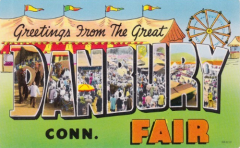 Danbury State Fair Postcard