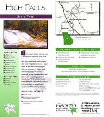 High Falls State Park brochure